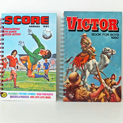 Recycled SCORE 1981 Notebook - Football journal