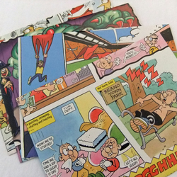 Set of 4 Handmade Envelopes upcycled from a Beano Annual