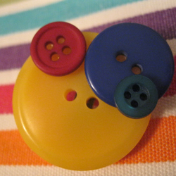 Big Button Brooch