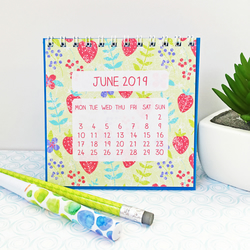 2019 desk calendar with pattern designs - stocking filler or Christmas gift