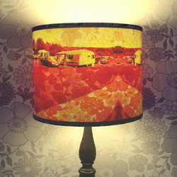 Caravan of Love - Handmade Lampshade with Original Digital Artwork ( Lamp Base Fitting)