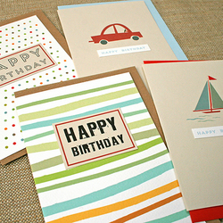 Pack of 4 Male Birthday Cards