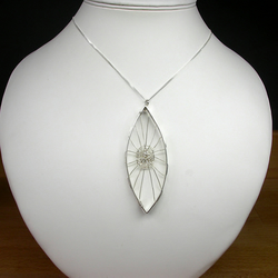 A Sterling Silver Web Pendant Necklace - The Web of Intrigue
