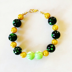 Gold and Green Galactic Bracelet