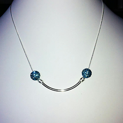 The Silver Smile Pendant Necklace Simple but Beautiful