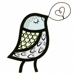 Stained Glass Singing Bird Window Decoration - Pale Colours