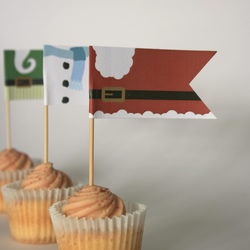 Flags, Toppers, Picks for Food and Cupcakes and more... Christmas Bellies