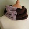SALE...Patterned Brown Cowl