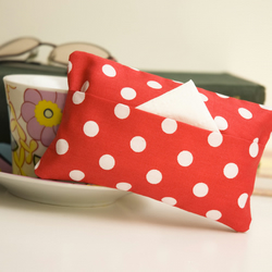 """Polka"" Tissue Packet Cover by moody cow designs"
