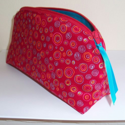 """Love....Bright!"" Make up bag by moody cow designs"