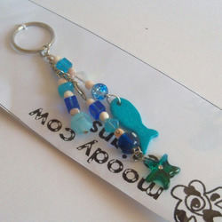 """Tales from the sea 1"" beaded bag charm"