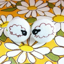 Count the sheep before you sleep stud earrings