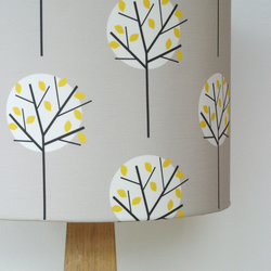 Moonlight tree drum lampshade