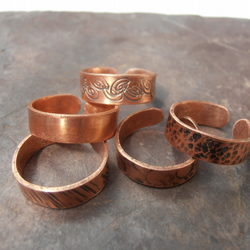 Copper toe rings