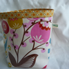fabric pot in laminated cotton