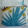 Coin purse in laminated cotton