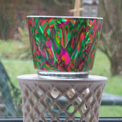 Tealight Candle Holder - Tropical