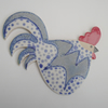 Reserved for Nikki....Pottery Chicken Cockerel Wall Plaque stoneware ceramic