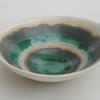A little ceramic bowl dish pottery and ceramics.. Green Pool