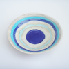 Handmade ceramic stoneware pottery  bowl ... Turquoise and blue