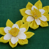 Daffodil Brooch in Yellow Fabric RESERVED FOR BARBARA