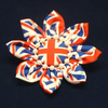 Brooch For Queen's Jubilee, Red, White and Blue Union Jack Fabric