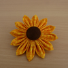 Yellow & Brown Sunflower Brooches
