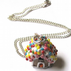 Gingerbread house necklaces