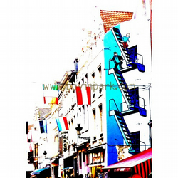 Comic Book Brussels - A3 Mounted Photographic Art Print