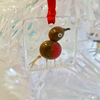 Robin fused glass decoration