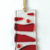Tidler red fused glass suncatcher