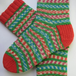 hand knit womens wool socks UK 5-7
