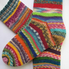 hand knit womens wool socks UK 4-6