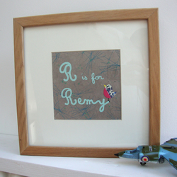 Personalised Bird Picture (framed & mounted)
