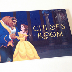 Personalised Beauty and the Beast Door Sign Plaque