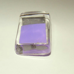 Resin Brooch - silver and purple squares