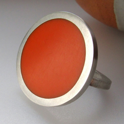 Big Round Orange Ring