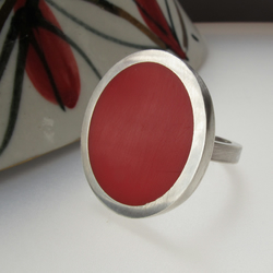 Big Round Red Cocktail Ring