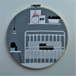 Sleep Embroidery Hoop