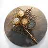Brooch Steampunk Clock and Hands