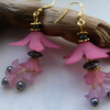 Earrings Large Pink and Grey