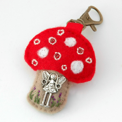 toadstool bag charm - fairy toadstool - fairy lover gift