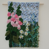 Foxgloves and Daisies - Textile Wall Hanging