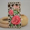 Embroidered Brooch - Blush Roses on Vintage lace