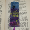 Moorland - Embroidered and felted bookmark