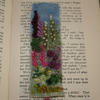 Cottage Garden - Embroidered and felted bookmark
