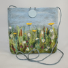 Meadow - Embroidered and felted Shoulder Bag