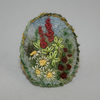 Embroidered Garden Brooch - Herbaceous Border