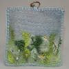Meadow Keyring Embroidered and Felted