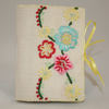Embroidered Needlecase - featuring folk style flowers from vintage linen